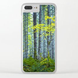 In the Woods Clear iPhone Case
