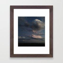 South Dakota storm Framed Art Print