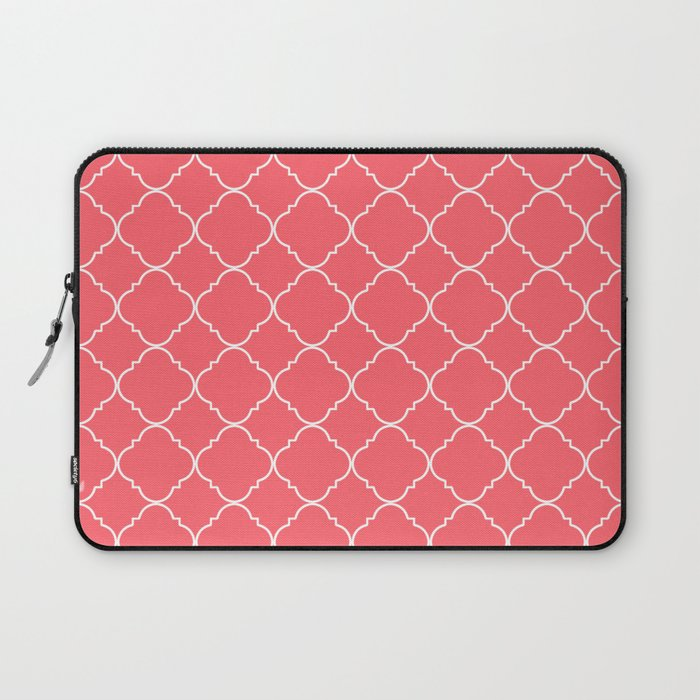 Coral Red Moroccan Laptop Sleeve