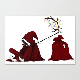 He Sees You When You're Sleeping Canvas Print