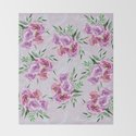 Purple mauve watercolor peonies falling bouquets by ankka