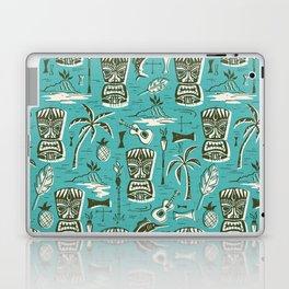 Tropical Tiki - Aqua Laptop & iPad Skin