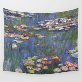1916-Claude Monet-Waterlilies-200 x 200 Wall Tapestry