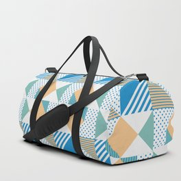 Geometric Polka Dots Petit Pois Cream Duffle Bag