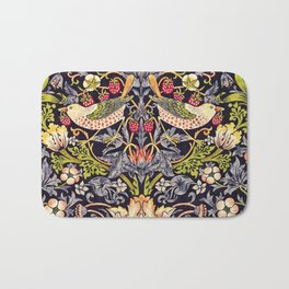 William Morris Strawberry Thief Art Nouveau Painting Bath Mat