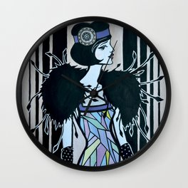 Melancholic flapper Wall Clock