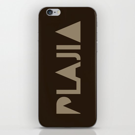 Plajia Logo iPhone & iPod Skin