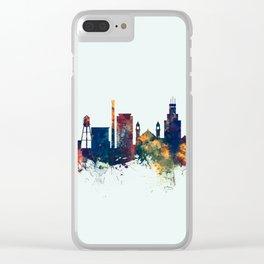 Durham North Carolina Skyline Clear iPhone Case