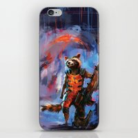 rocket raccoon iPhone & iPod Skins featuring Rocket by Wisesnail