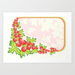 Frame from abstract berries Art Print