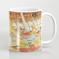 carousel Mugs featuring Carousel Horse by Whimsy Romance & Fun