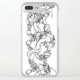 BELTS. Clear iPhone Case