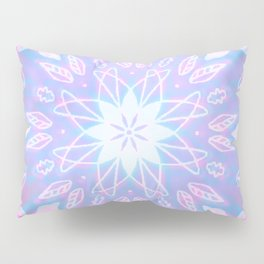 Purple, Teal, White Aura Mandala Pillow Sham