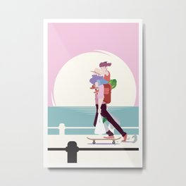 Stay at home dad - Riding your grocery shopping Metal Print