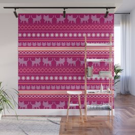 Ugly Christmas Cat Sweater Wall Mural