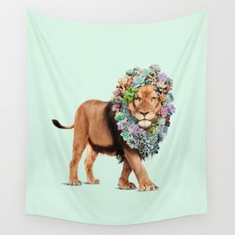 SUCCULENT LION Wall Tapestry