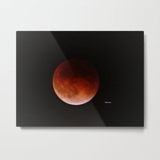 Blood Moon through Southern California Haze Metal Print