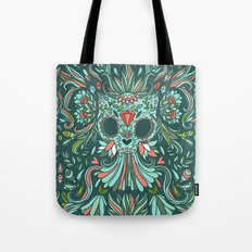 Calavera Cat Tote Bag