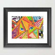 Woman in love Framed Art Print
