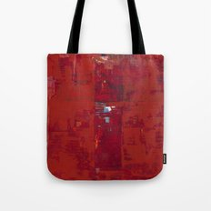 Solomon Abstract Red Modern Art Painting Shawn McNulty Tote Bag