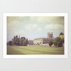 Oxford college Art Print