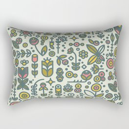 36dot Flower Garden Rectangular Pillow
