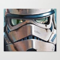 stormtrooper Canvas Prints featuring Stormtrooper by Mel Hampson