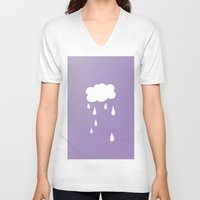 cloud V-neck T-shirts featuring Cloud by SueM