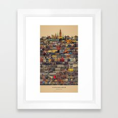 Copenhagen Facades Framed Art Print