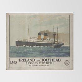 Vintage poster - Ireland Throw Blanket