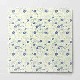Flowerscrib Metal Print