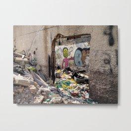 Tel Aviv Street Art / Trash & Construction Metal Print