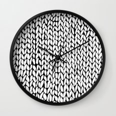 Hand Knitted Loops Wall Clock