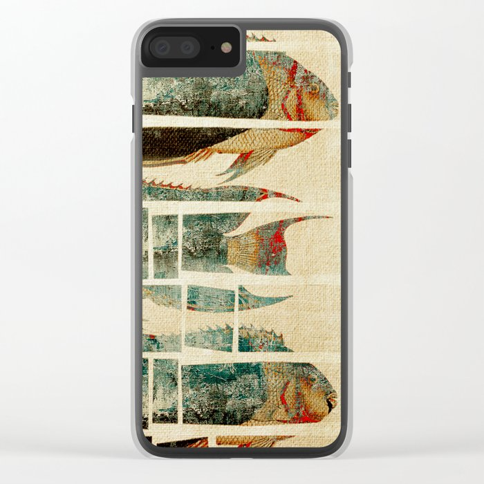 Fish Under Strong Radiation 2 Clear iPhone Case