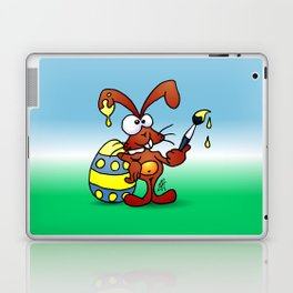 The Easter Bunny wishes you Happy Easter Laptop & iPad Skin