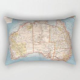 Australian Topography Map (1905) Rectangular Pillow