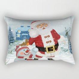 Funny Santa Claus Rectangular Pillow