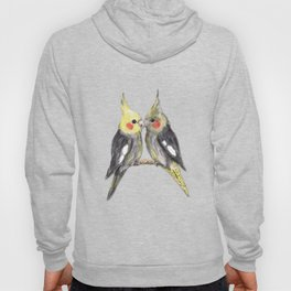 Two cute cockatiels Hoody
