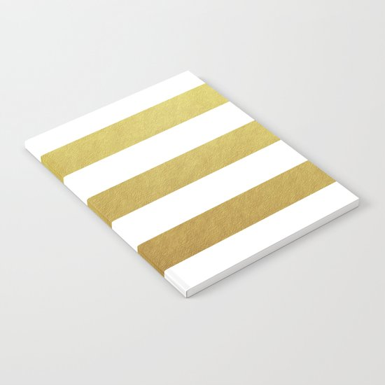 gold stripes Notebook