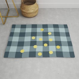 blue jeans & mimosa || pattern Rug