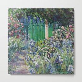Monet's Door — Giverny, France Metal Print