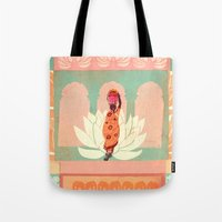 india Tote Bags featuring india by Faye Suzannah