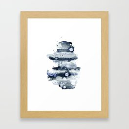 Indigo Abstract Watercolor No.1 Framed Art Print