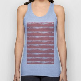 Irregular Stripes Coral Unisex Tank Top