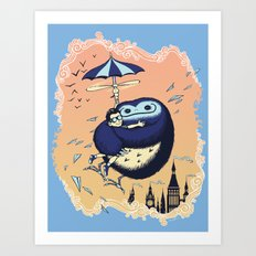 High Flying Hugs Art Print