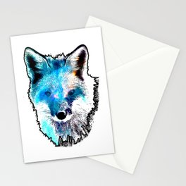 Space Fox no2 Stationery Cards