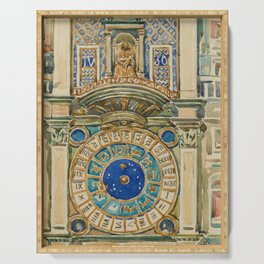 Maurice Brazil Prendergast - Clock Tower, Saint Marks Square, Venice - Digital Remastered Edition Serving Tray