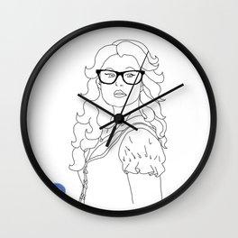 Hipster Belle Wall Clock