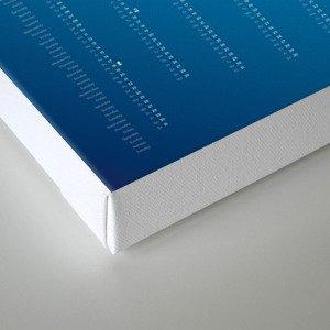 Bureau Oberhaeuser Calendar 2016 blue, english Canvas Print