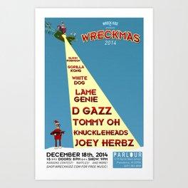 Wreckmas 2014 Poster Art Print